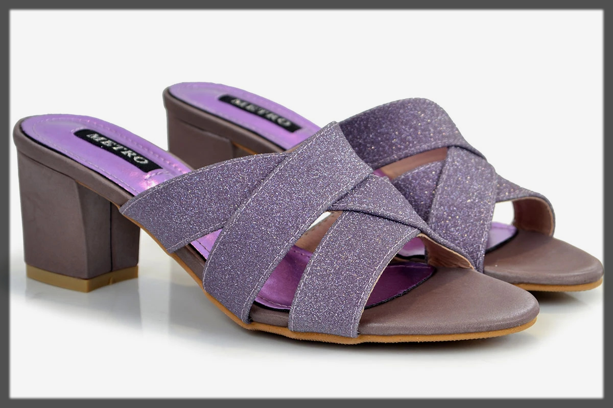 classy purple summer shoes for women