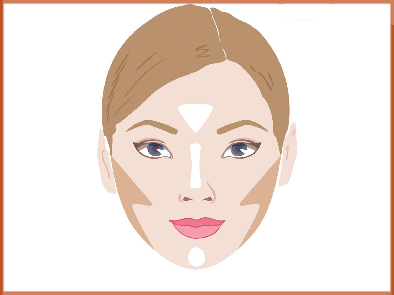 how to contour your face if its round