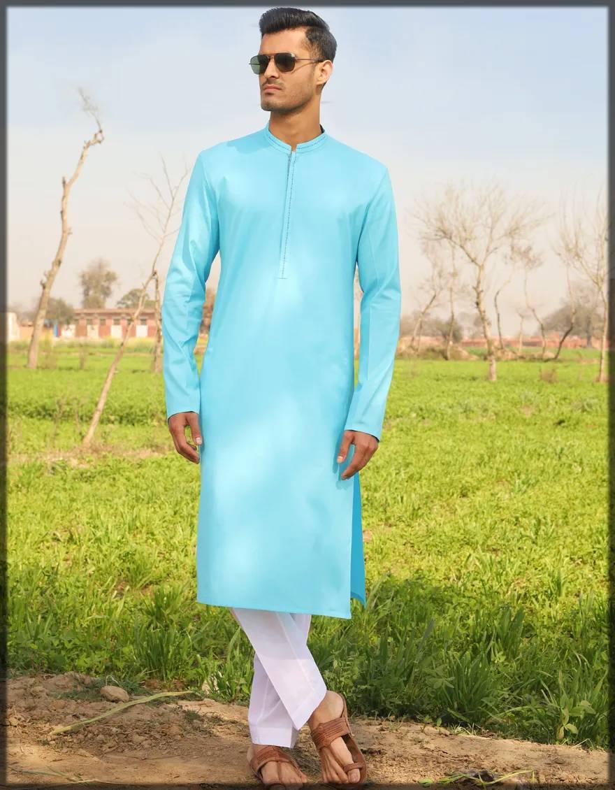 cotton attire in ferozi
