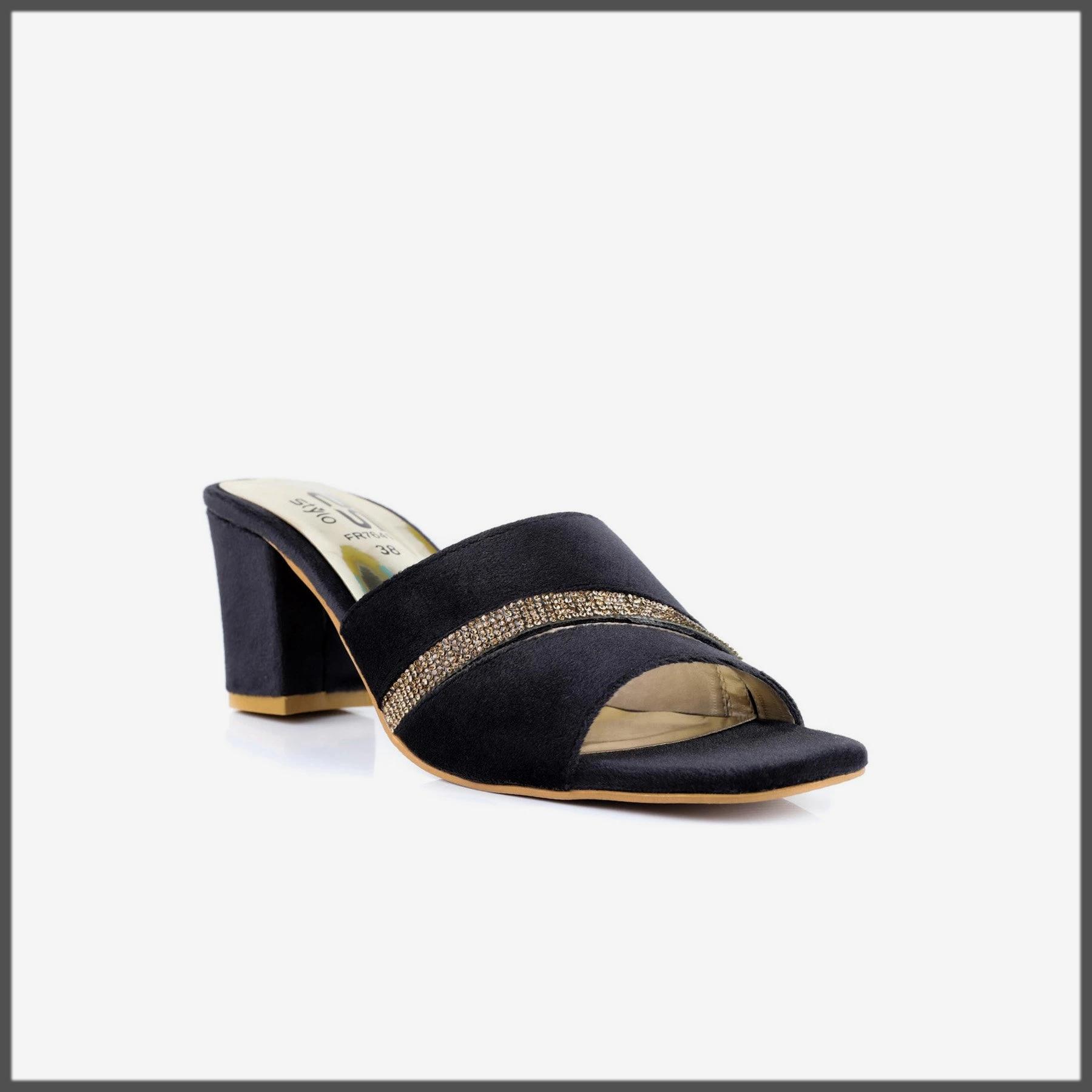 dazzling black summer formal shoes