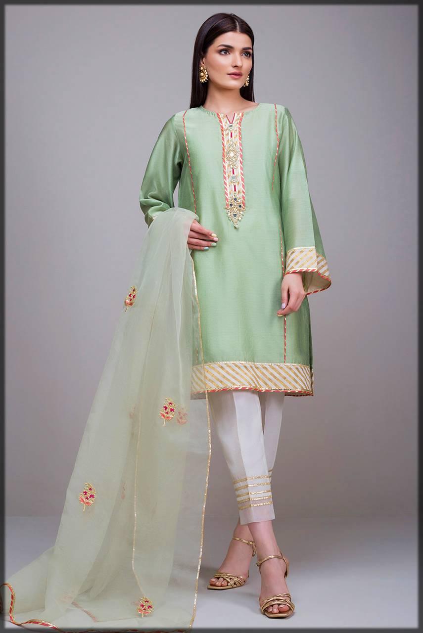 deepak perwani luxury pret - green