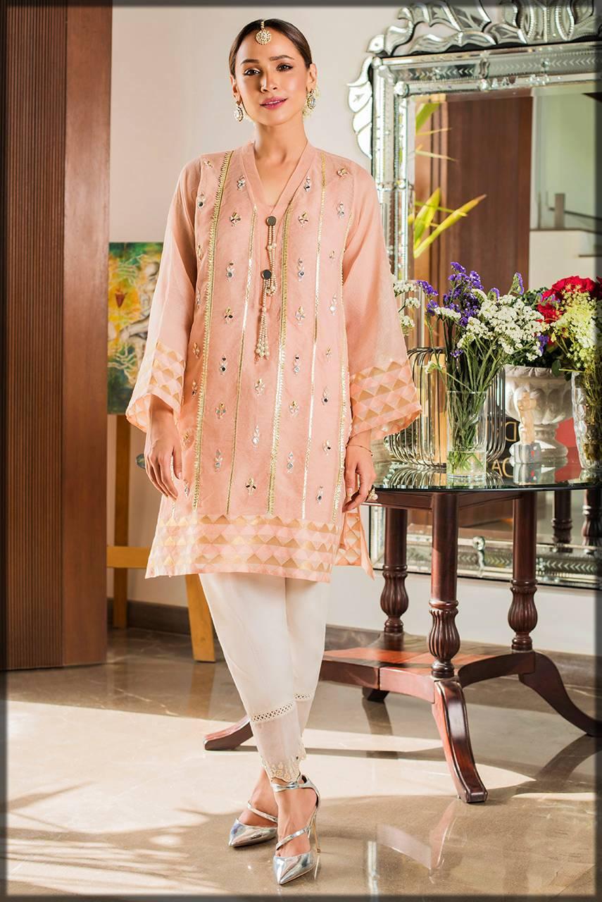 deepak perwani luxury pret - pink