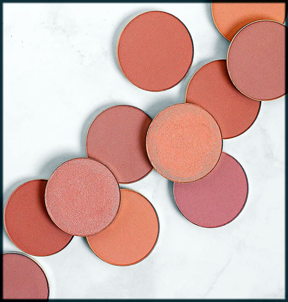different shades of blush