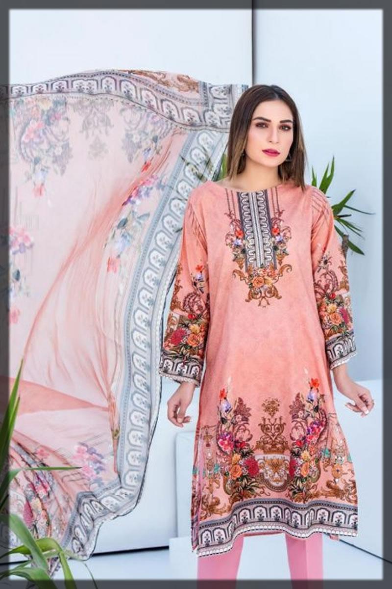 digital printed pink jacquard dress
