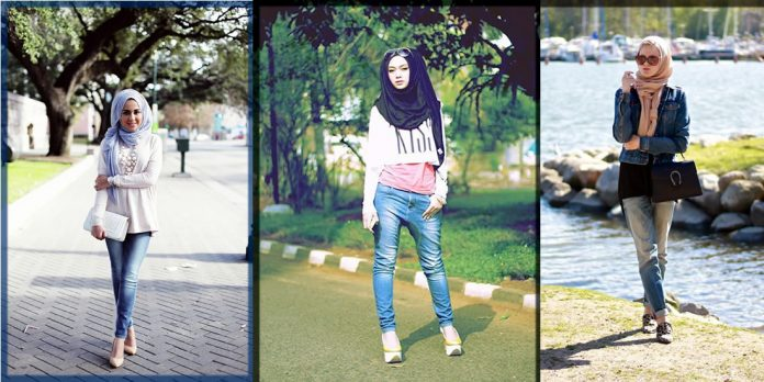 easy and appealing Casual Hijab Styles With Jeans