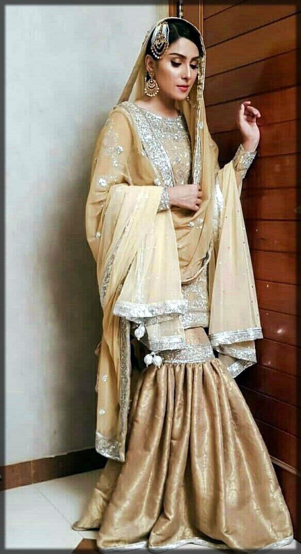 elegant bridal gharara
