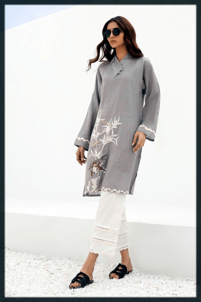 emboridered kurta with trouser