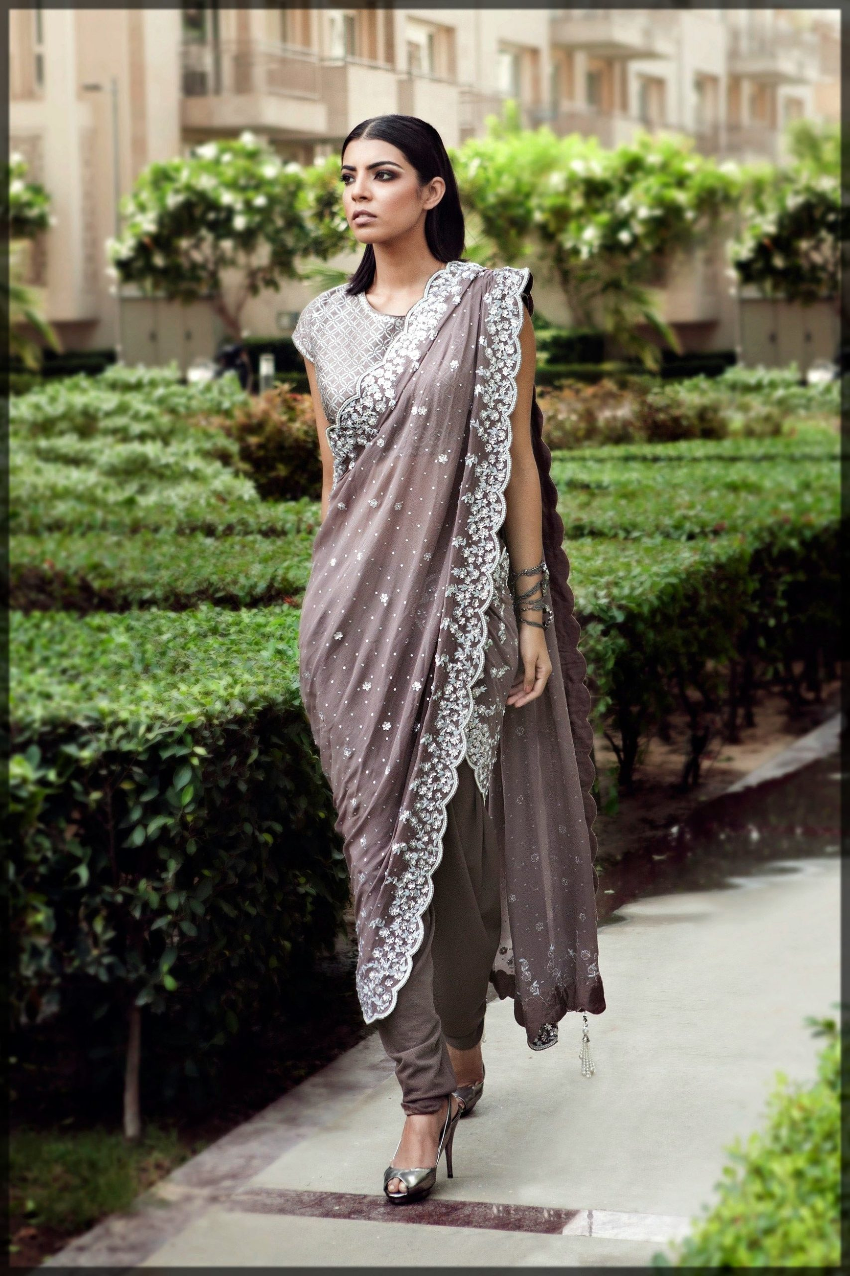 fancy and altest Churidaar with Pant Saree