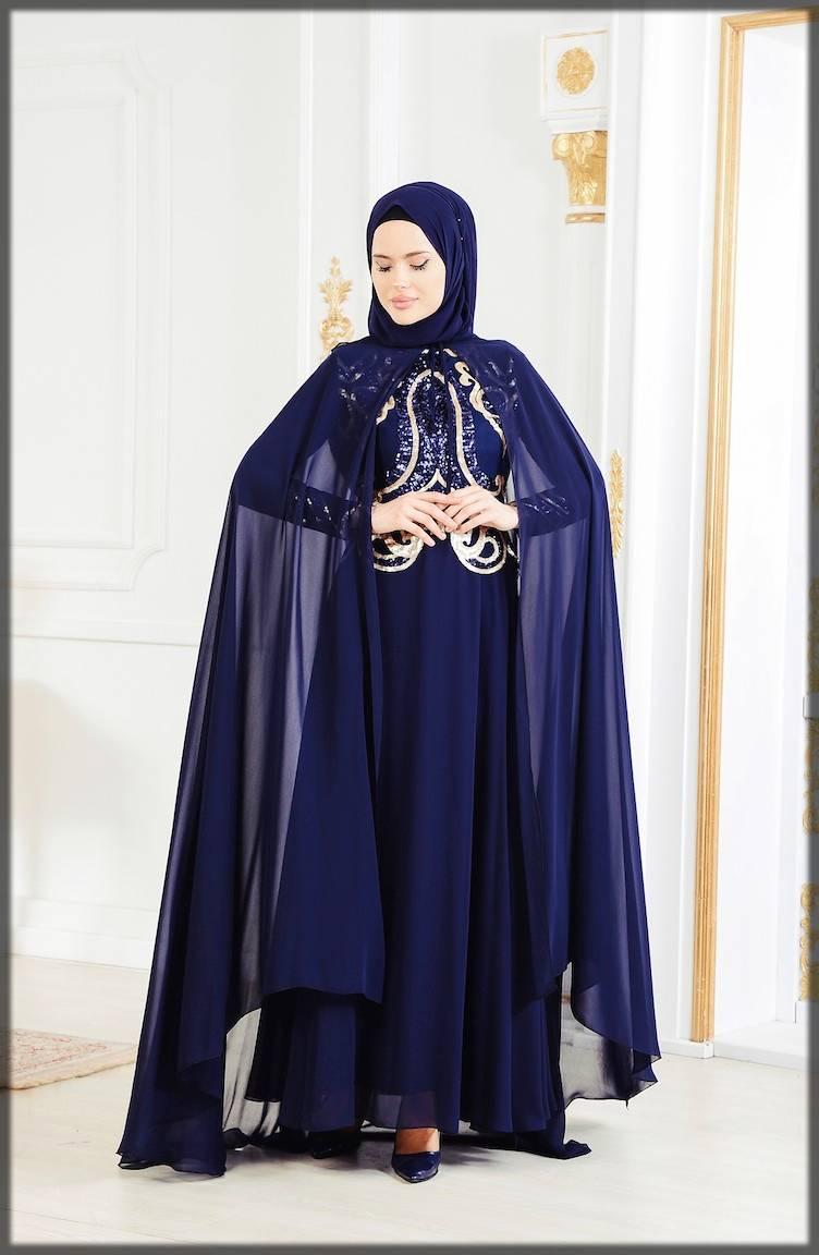 fancy cape style abaya