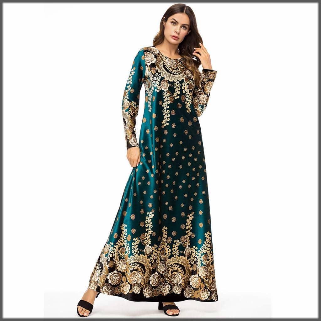 fancy velvet abaya for wedding day