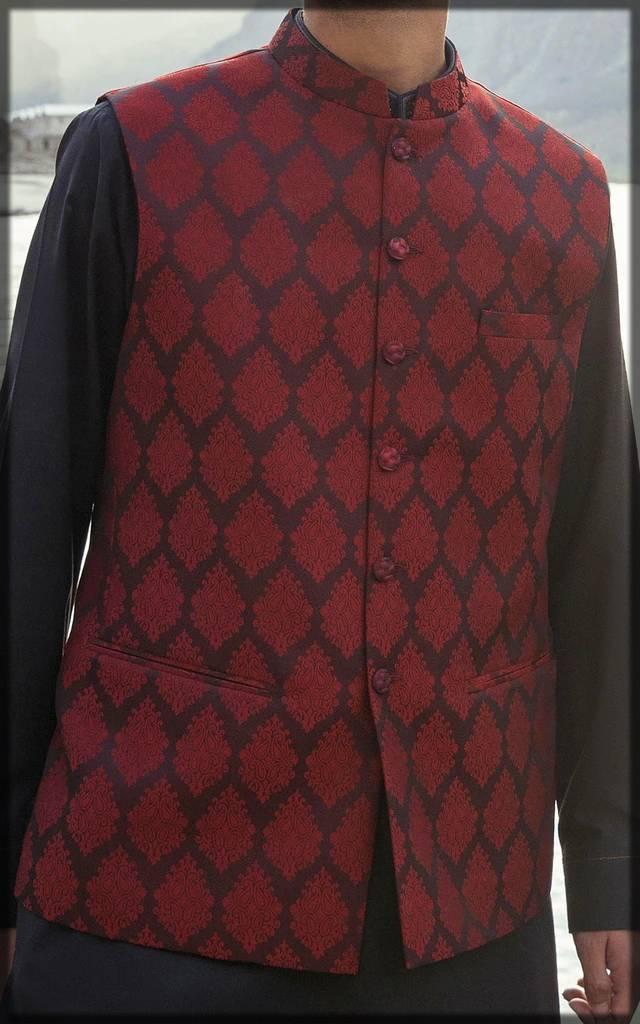 fancy waistcoat on kurta for men