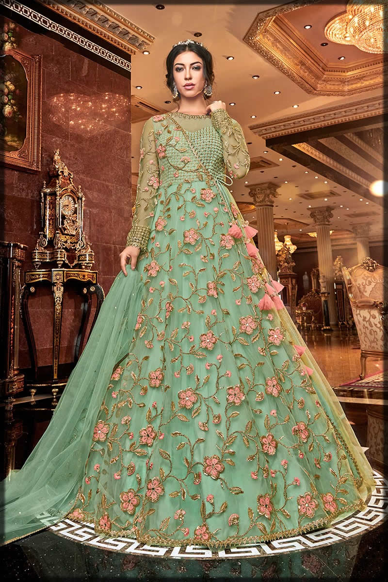 floral embroidered frock