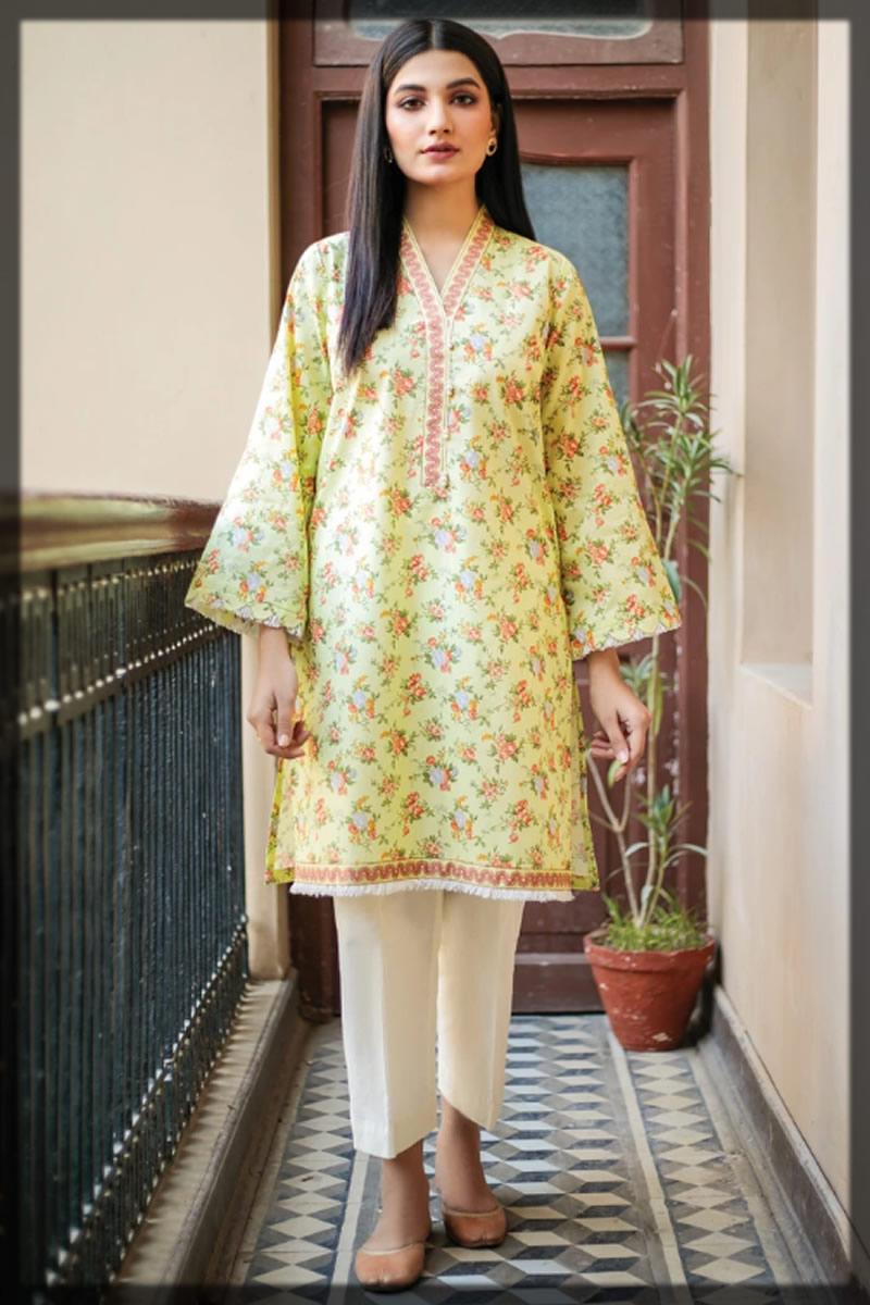 lemon shirt in Orient Textiles Summer Collection