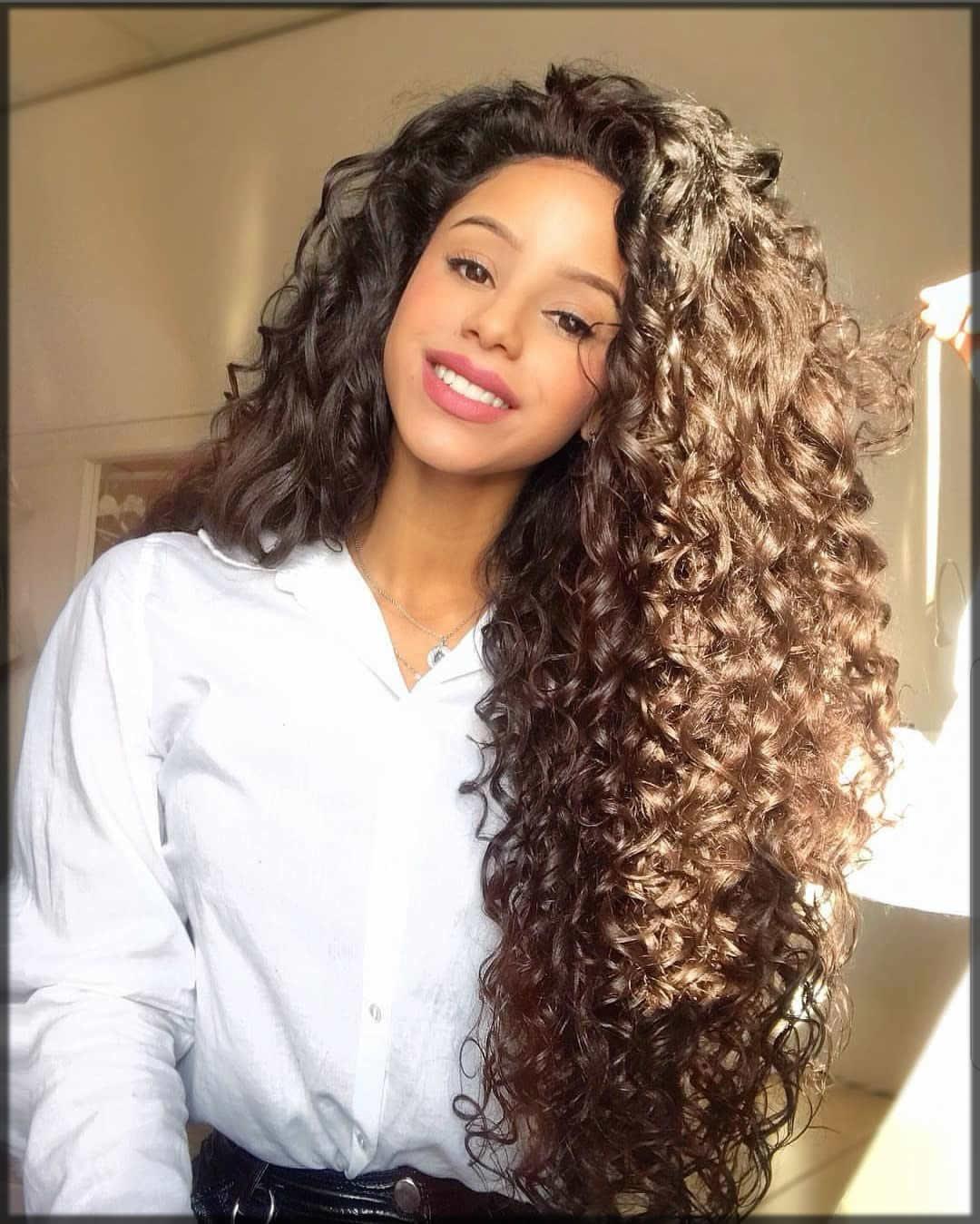 full length curly hair