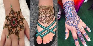 Sparkling Glitter Mehndi Designs for Brides with Image Gallery