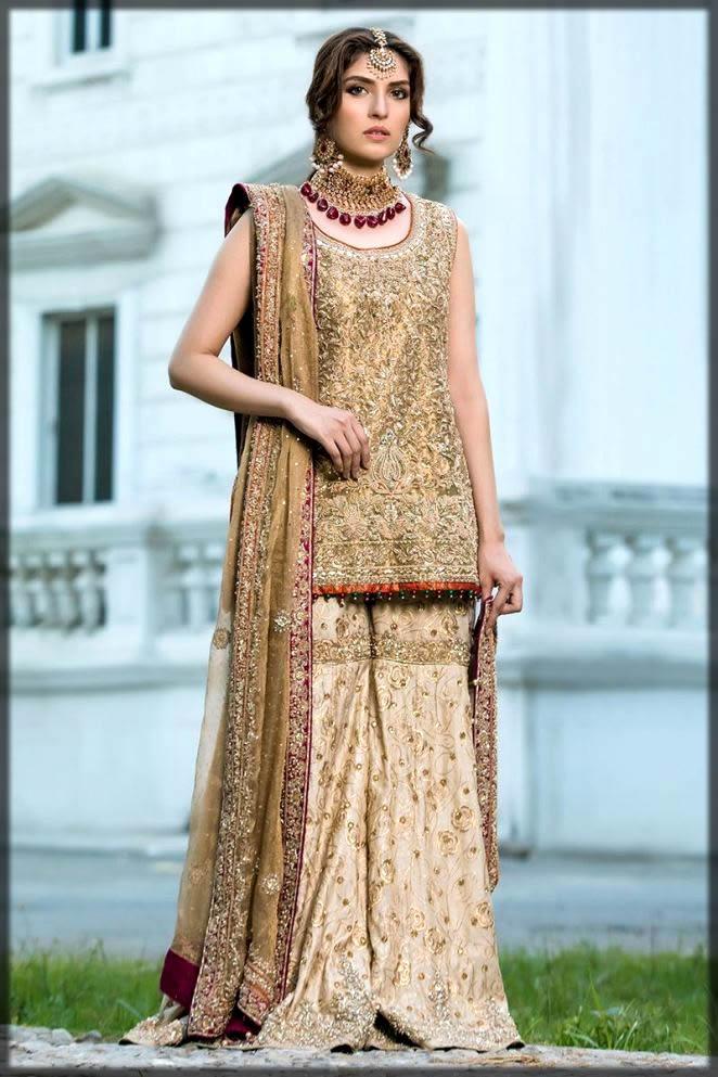 golden gharara dress