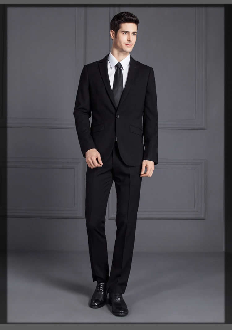 graceful black pant coat