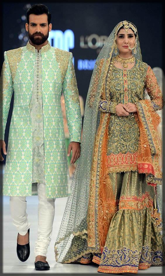 green bridal gharara