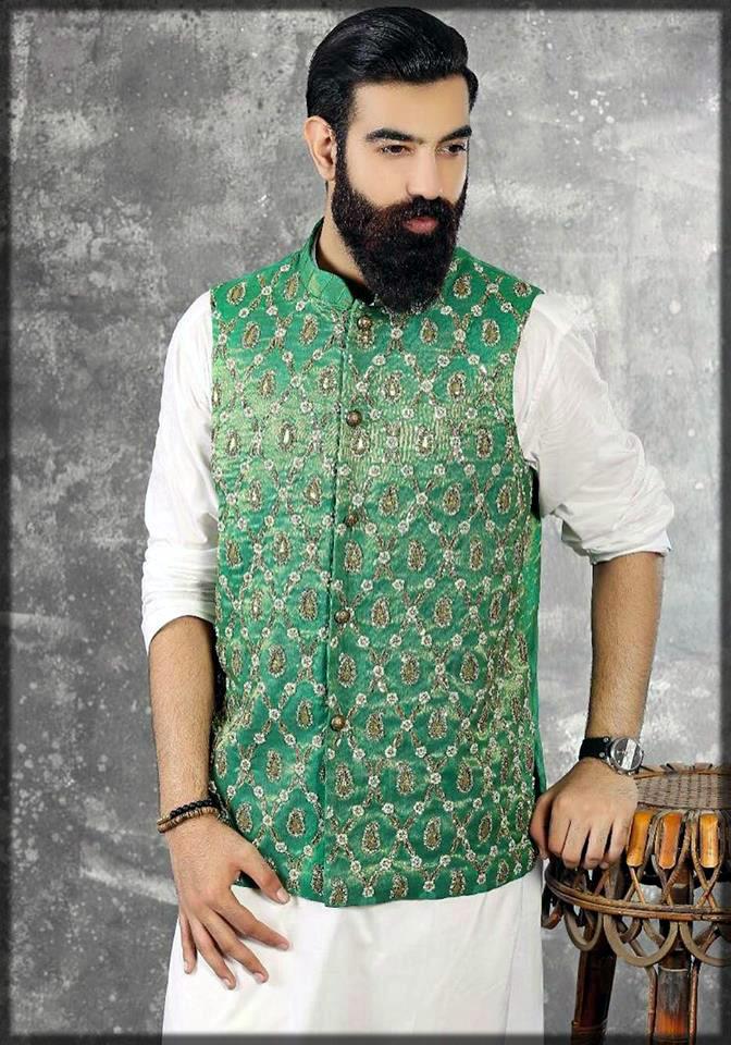 green waistcoat for mehndi