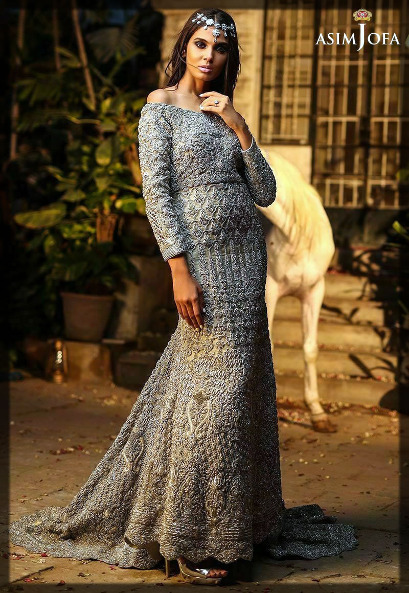 grey brdial wear dress collection