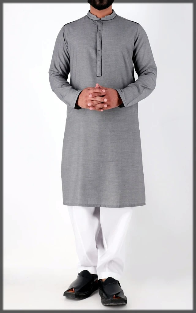 grey dress from eid collection