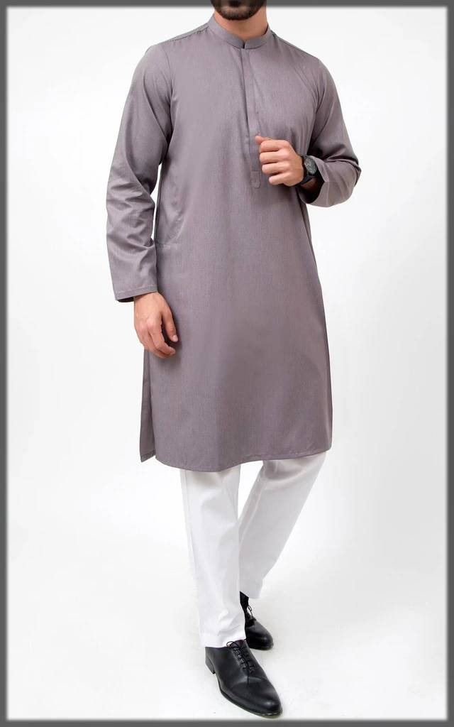 grey trendy cambridge kurta collectionfor men