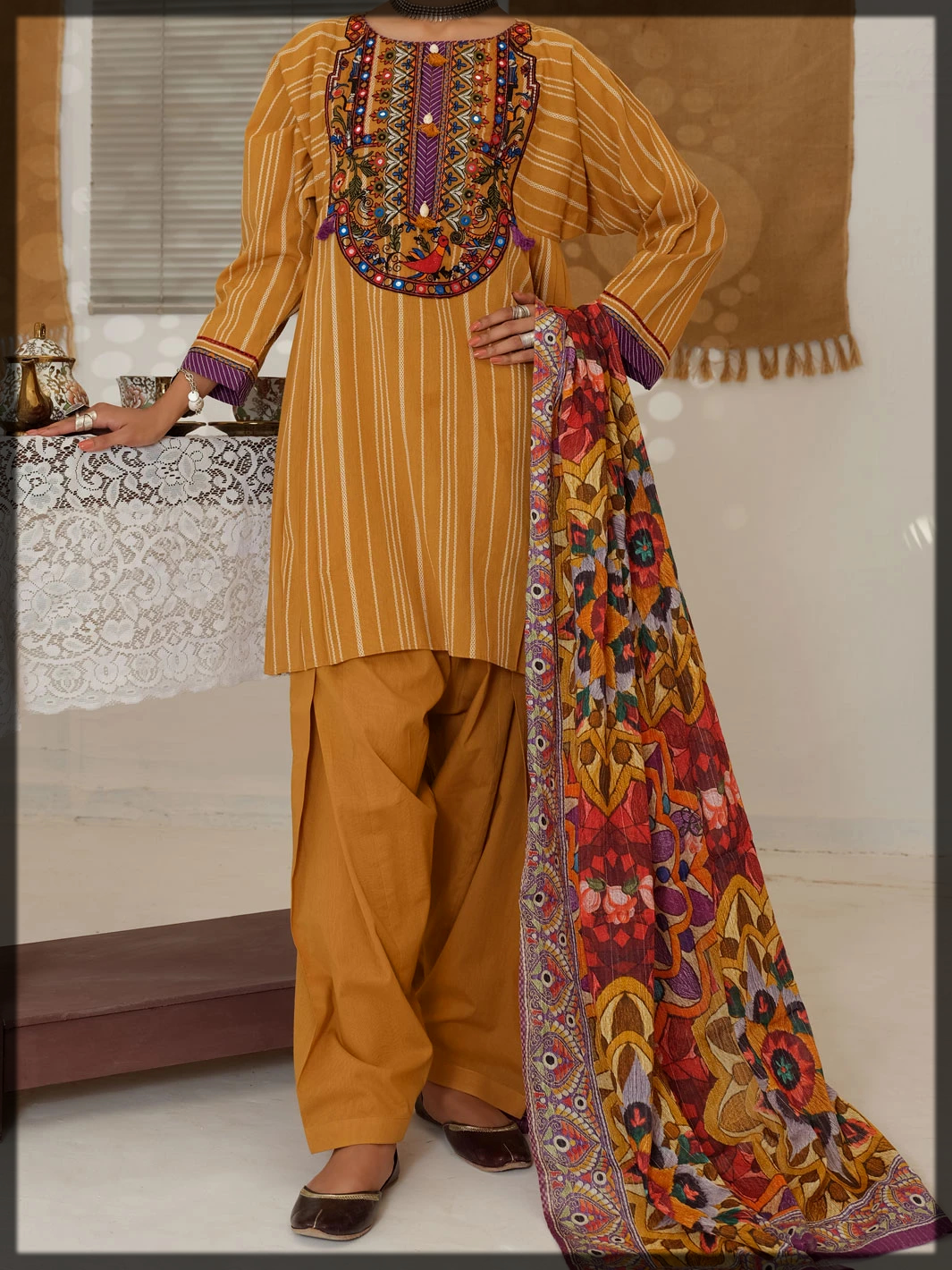 hand woven eid dress for ladies