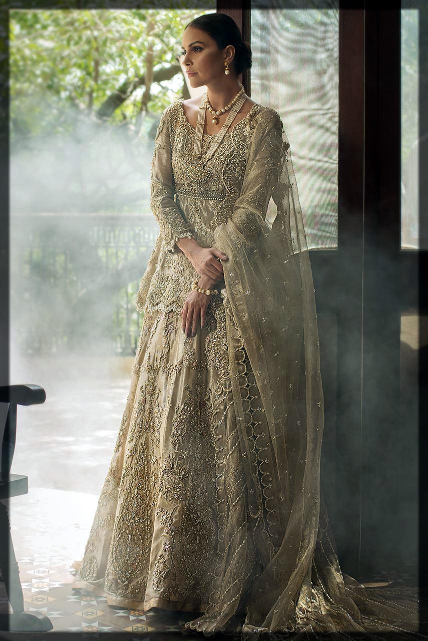 heavily decoarted bridal walima lehenga