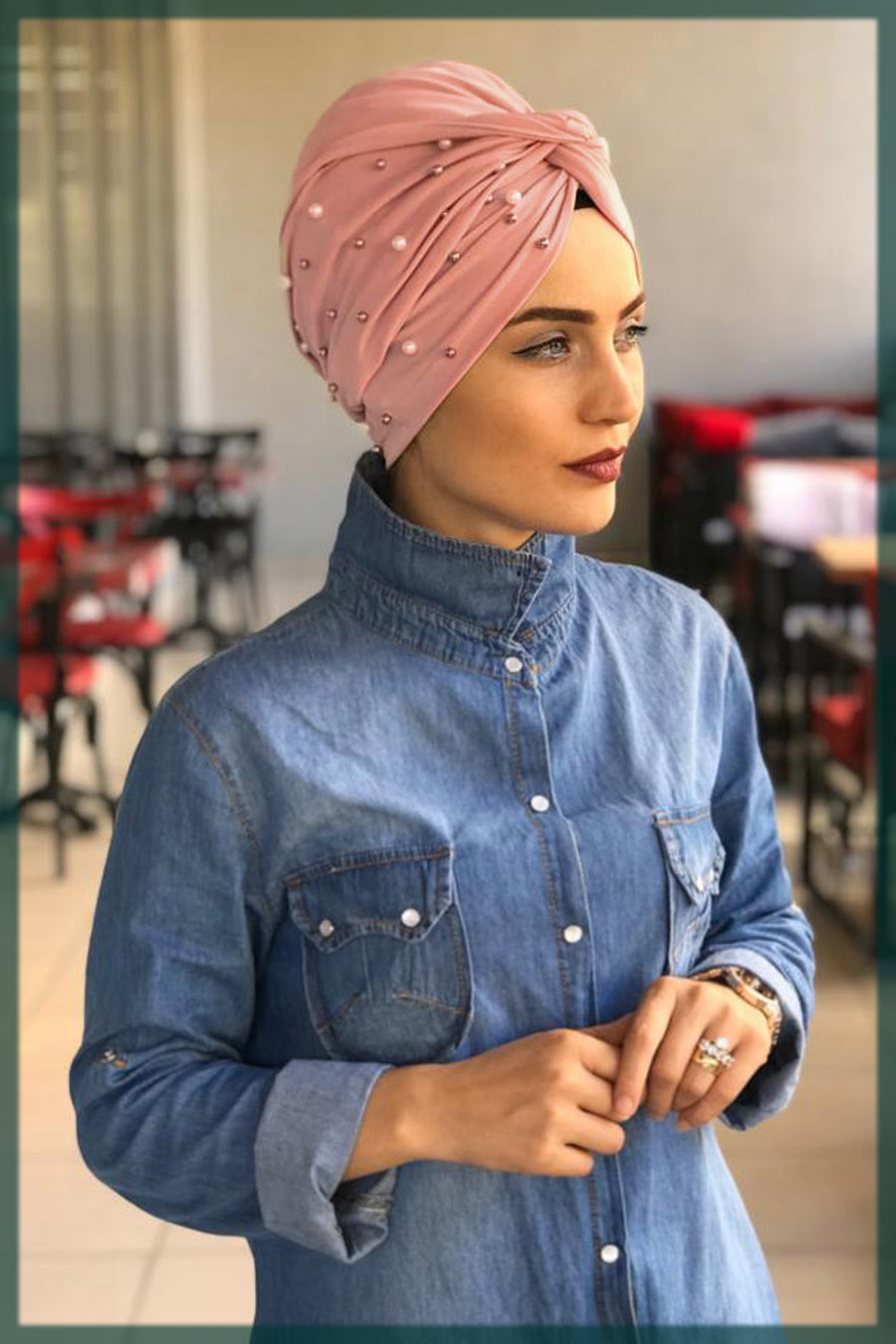 impressive turban hijjab styles for university girls