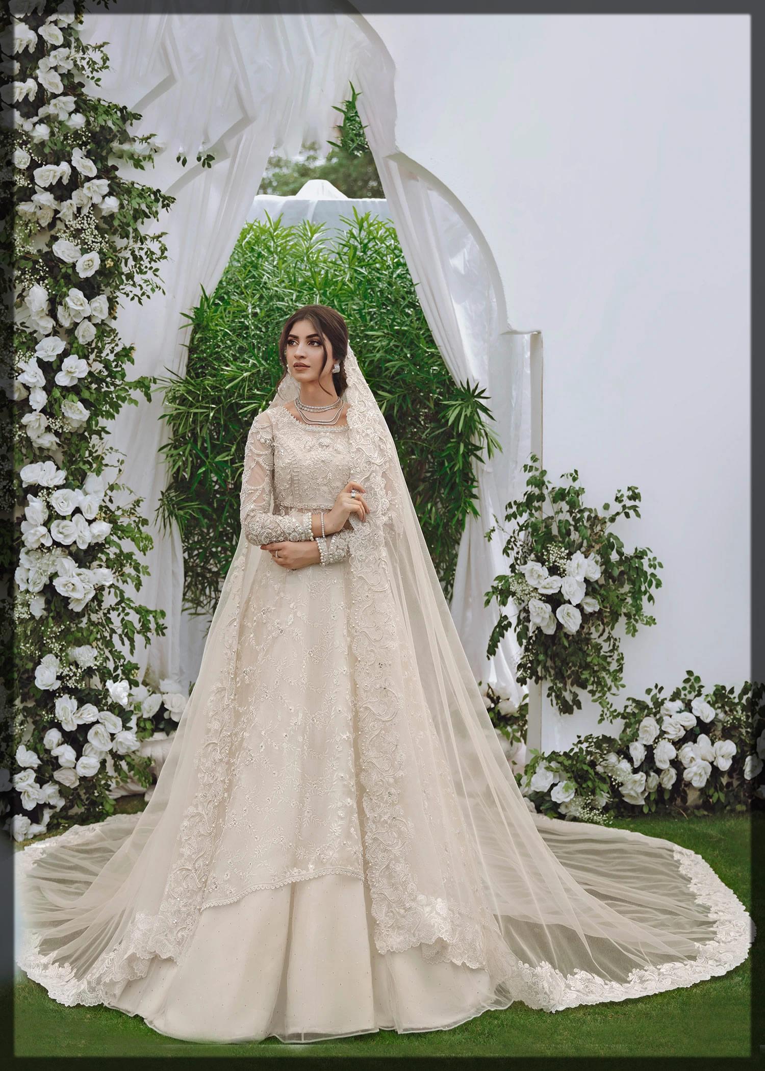 ivory embellished bridal gown