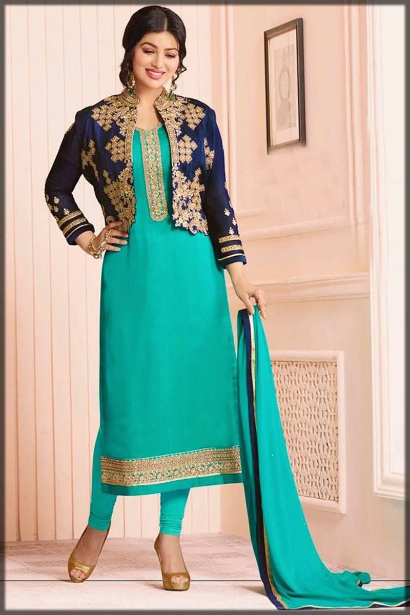 jacket style shalwar kameez - ferozi