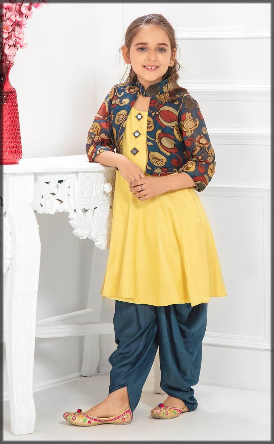 jacket style shalwar kameez for kids