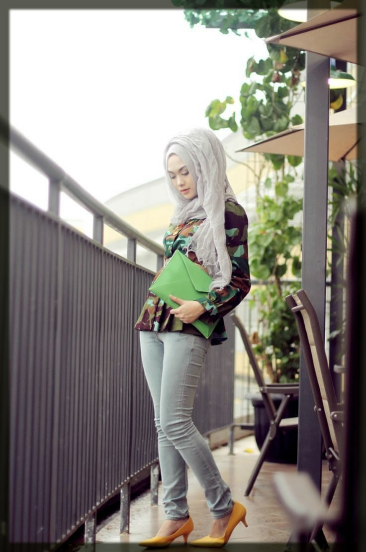 jeans shirt with hijab