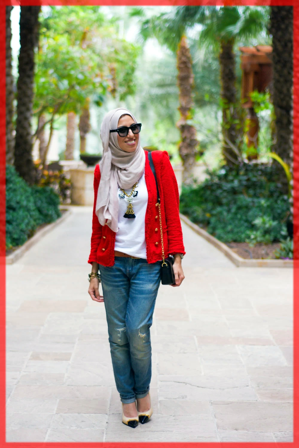 knotted hijabs with pant