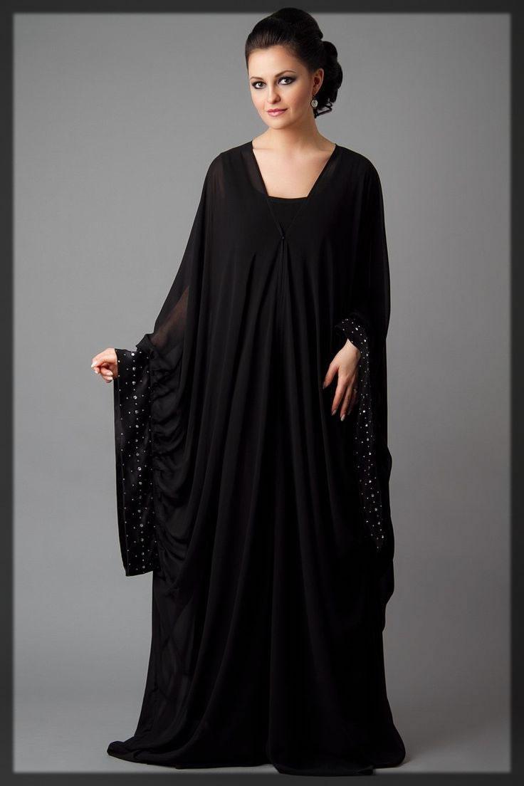 lates black Dubai Style Abaya