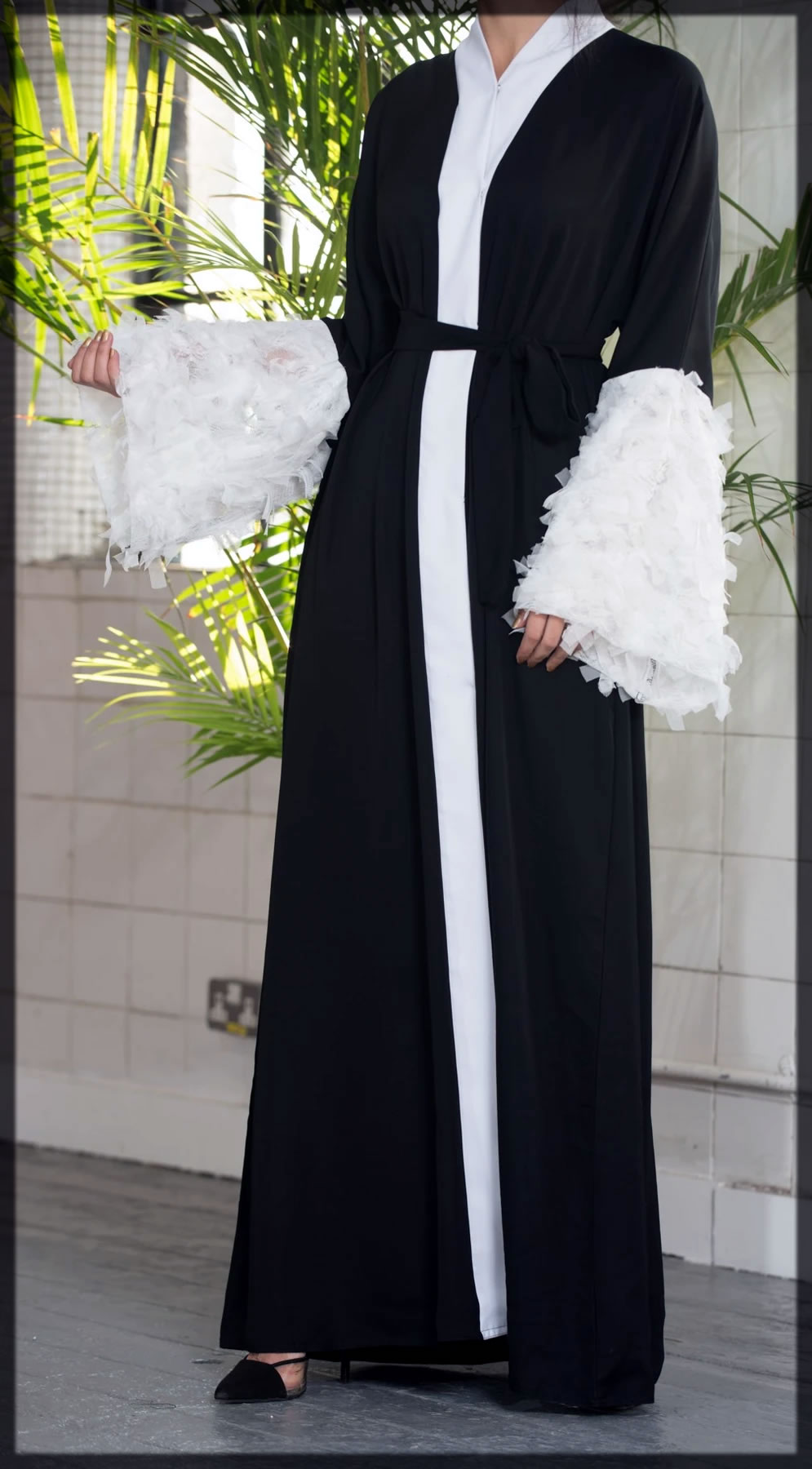 latest fancy sleeves abaya collection