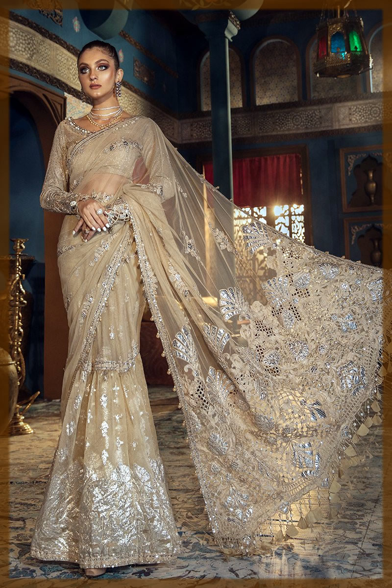 latest maria b net saree