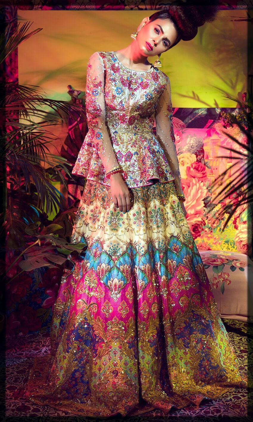 lavish mehndi dress for bride to be