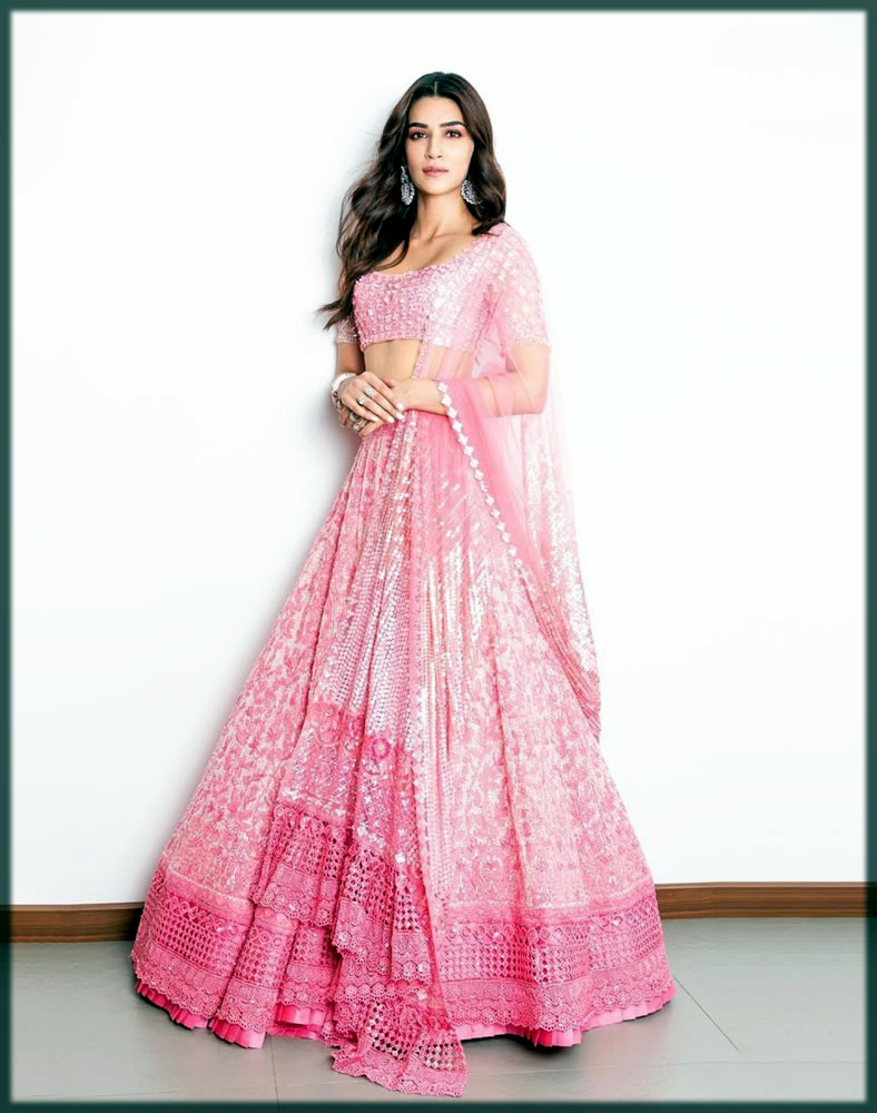lavish pink bridal dresses