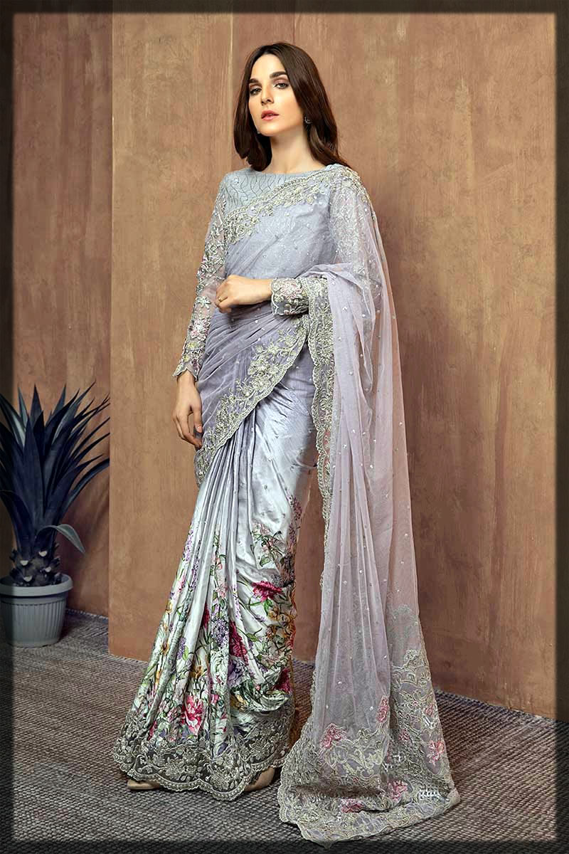 lavish purple saree design