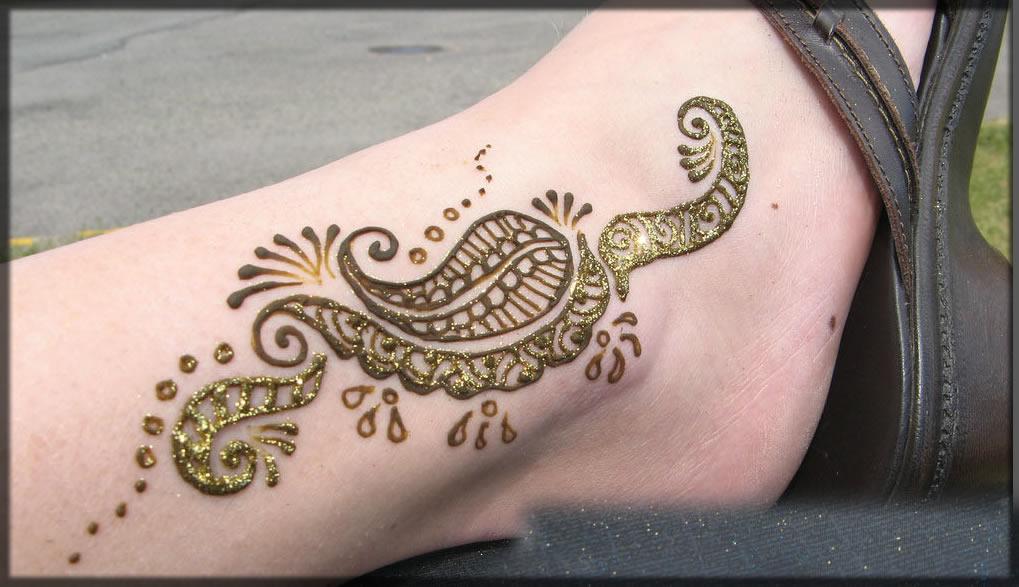 leg glitter designs