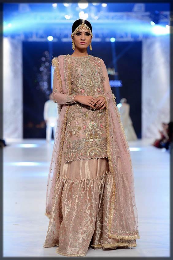 light pink gharara for brides
