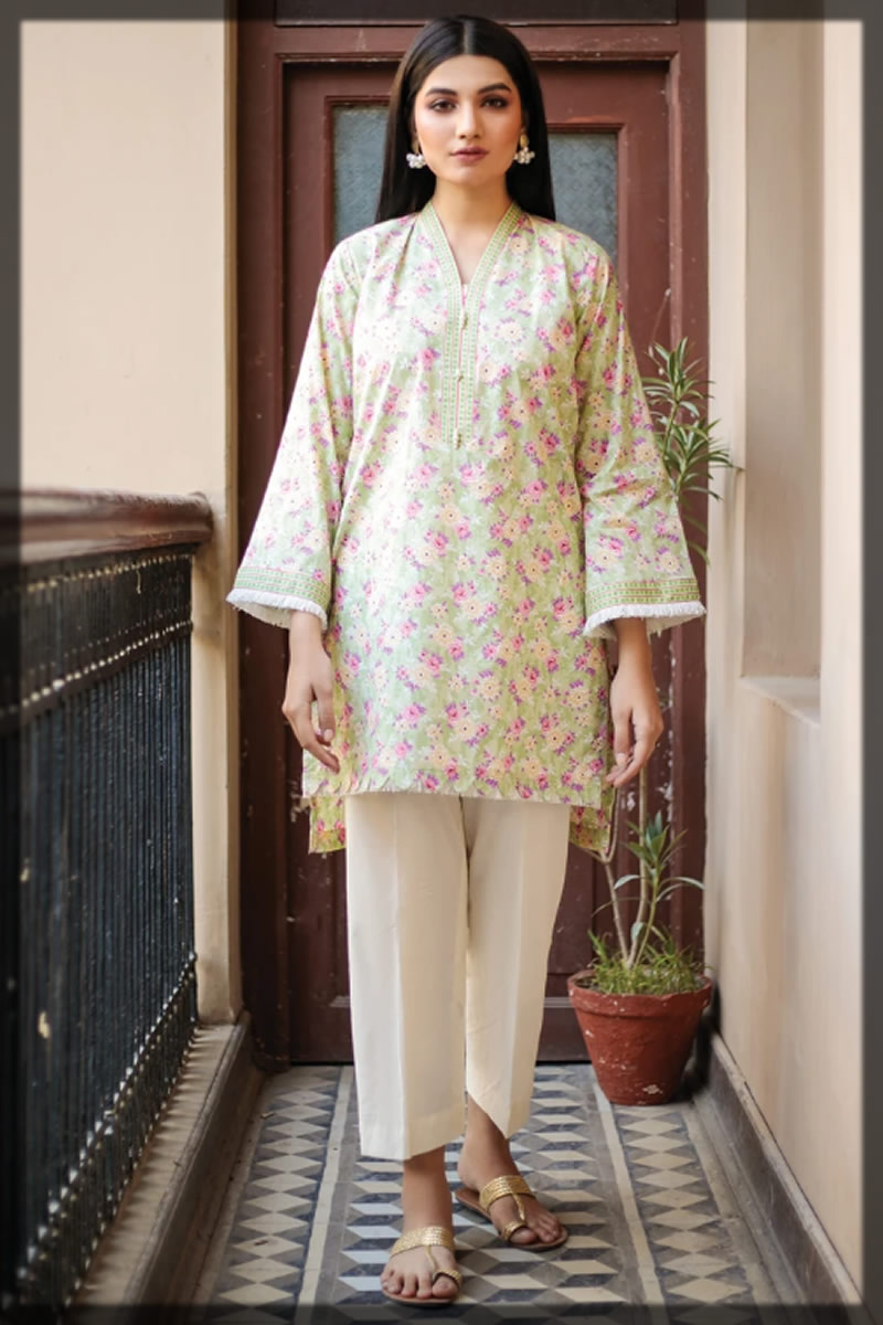 light pistachio summer shirt in Orient Textiles Summer Collection