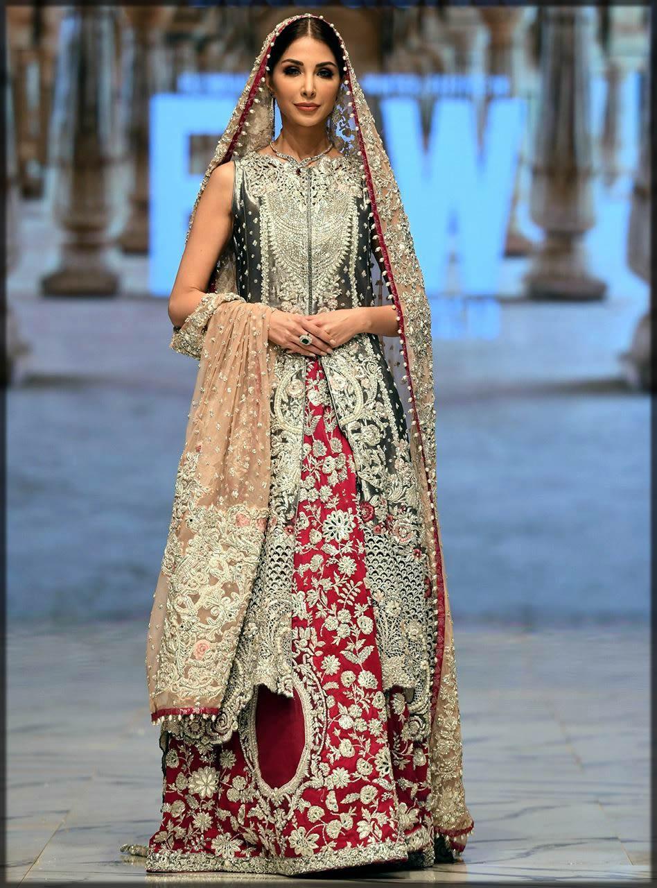 long black shirt bridal dress by zainab chottani