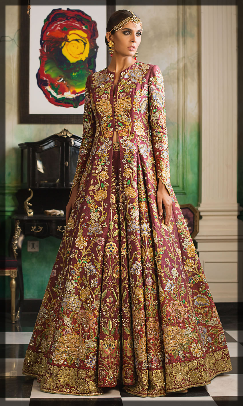 luxurious bride dress for barat day