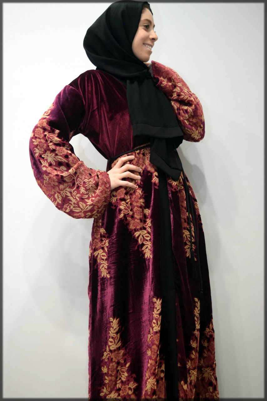 maroon abaya for events