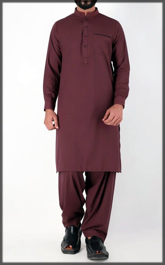 maroon eid dress Cambridge eid collection