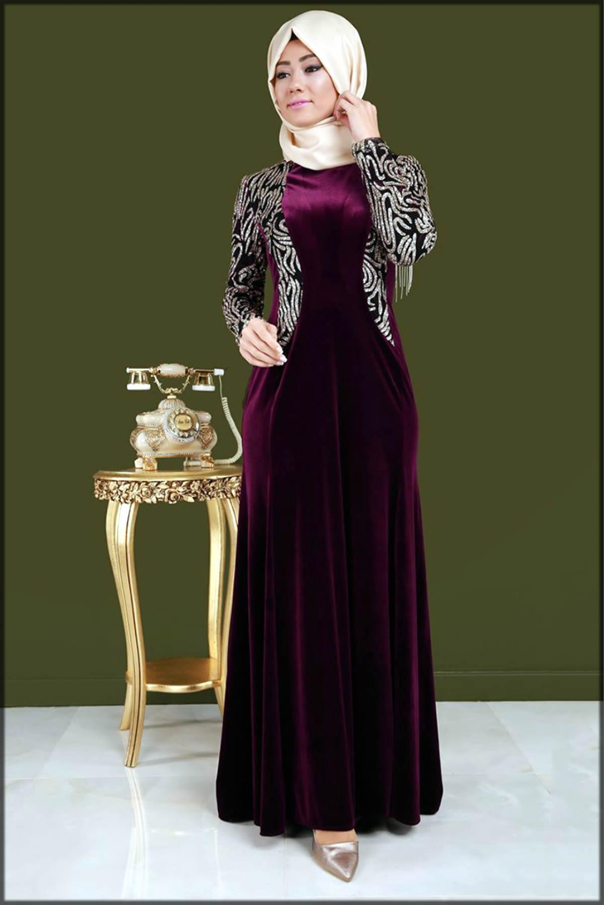 maroon stylish abaya for party wear