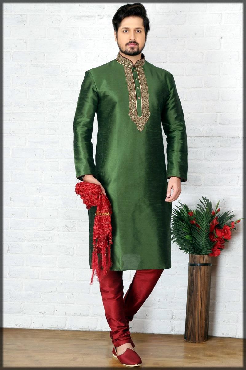men wedding dress for mehndi