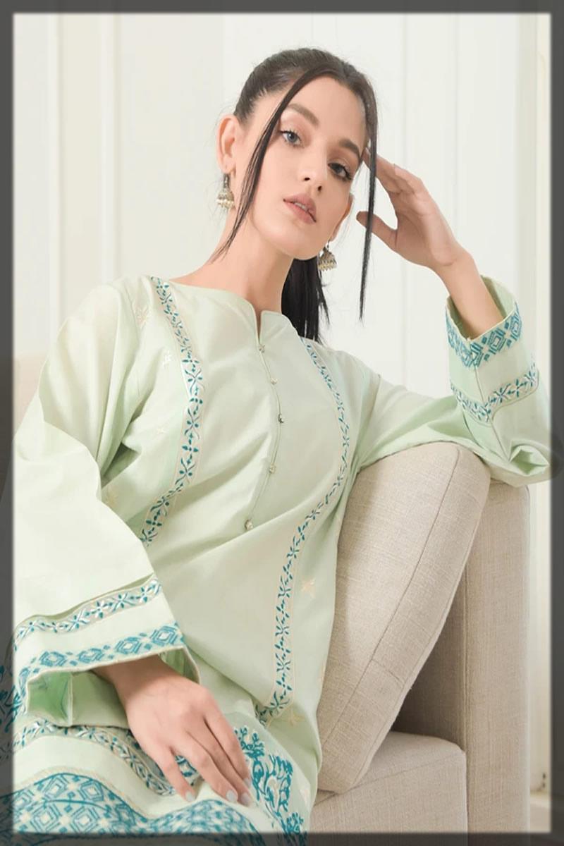 mint green lawn shirt